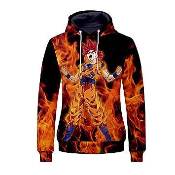 LHKAVE Impresión 3D Dragon Ball Z Hombres Mujeres Sudadera con Capucha Anime Unisex Goku Pullover Ropa Deportiva Sudaderas Kangaroo Pocket,XL: Amazon.es: ...