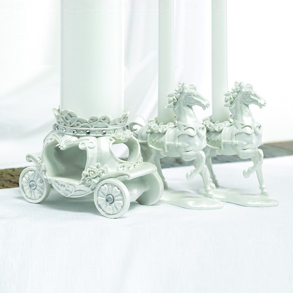 Fairytale Horse And Carriage Unity Candle Stand Set by HBH