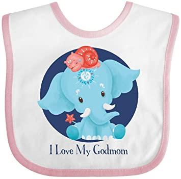 inktastic Mothers Day Love My Godmom Ervin Blue Toddler T-Shirt Tiny Tusks