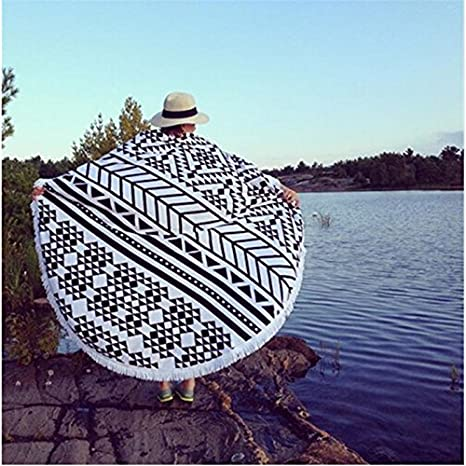 Amazon.com : Luxury Round Beach Towels Bohemian Circle Serviette De Plage Toalla Playa Swimming Bath Super-absorbent Toallas Category-A : Everything Else