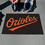 """Fan Mats 6327 MLB - Baltimore Orioles 60"""" x 96"""" Ulti-Mat Area Rug / Mat"""