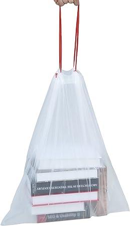 3 lotes Basics 30-35 litros Bolsas de basura con cord/ón tipo H lote de 20 bolsas