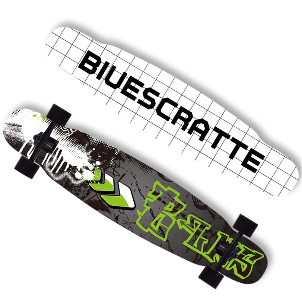 プロフェッショナルスケートボードロングボードフリースタイルレディースダンスボードセットクルーザーフルセットメイプルデッキ46.5 * 9.6 * 4.5インチ市内でのオフィスショッピングに適しています,白 白い
