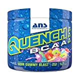 ANS Performance Quench BCAA Recovery Drink Powder with Natural Electrolyte Complex, Sour Gummy Blast, 30 servings