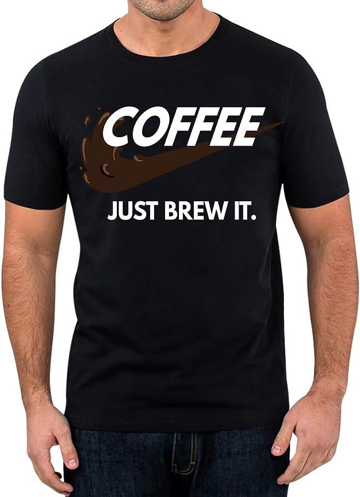 Elbster Camiseta del café - sólo elabora cerveza - camisa impresionante - kaffee para hombres negro S: Amazon.es: Ropa y accesorios