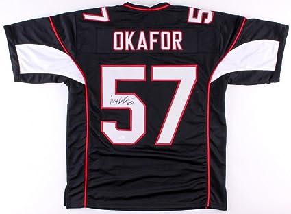 online store 16830 702df Alex Okafor Autographed Signed Cardinals Black Jersey ...