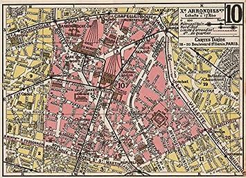 Karte Paris Arrondissement.Amazon De Paris 10 10e Xe Arrondissement Zolllager