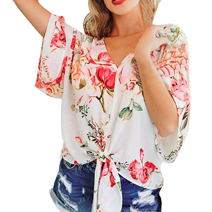 Ansenesna Camisetas Larga Tops Blusas Mujer Verano Fiesta Manera Gasa Pagoda Cubre La Blusa FáCil Vendaje