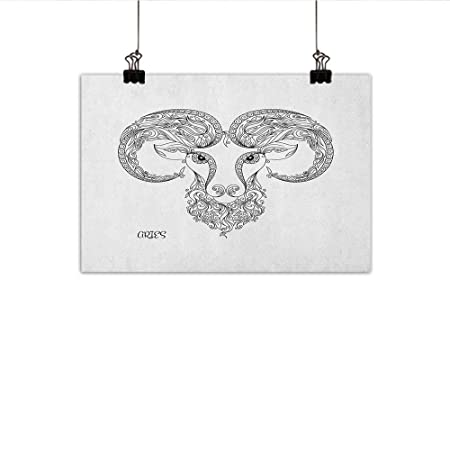 MartinDecor Zodiac Aries - Póster Decorativo para Pared, diseño de ...