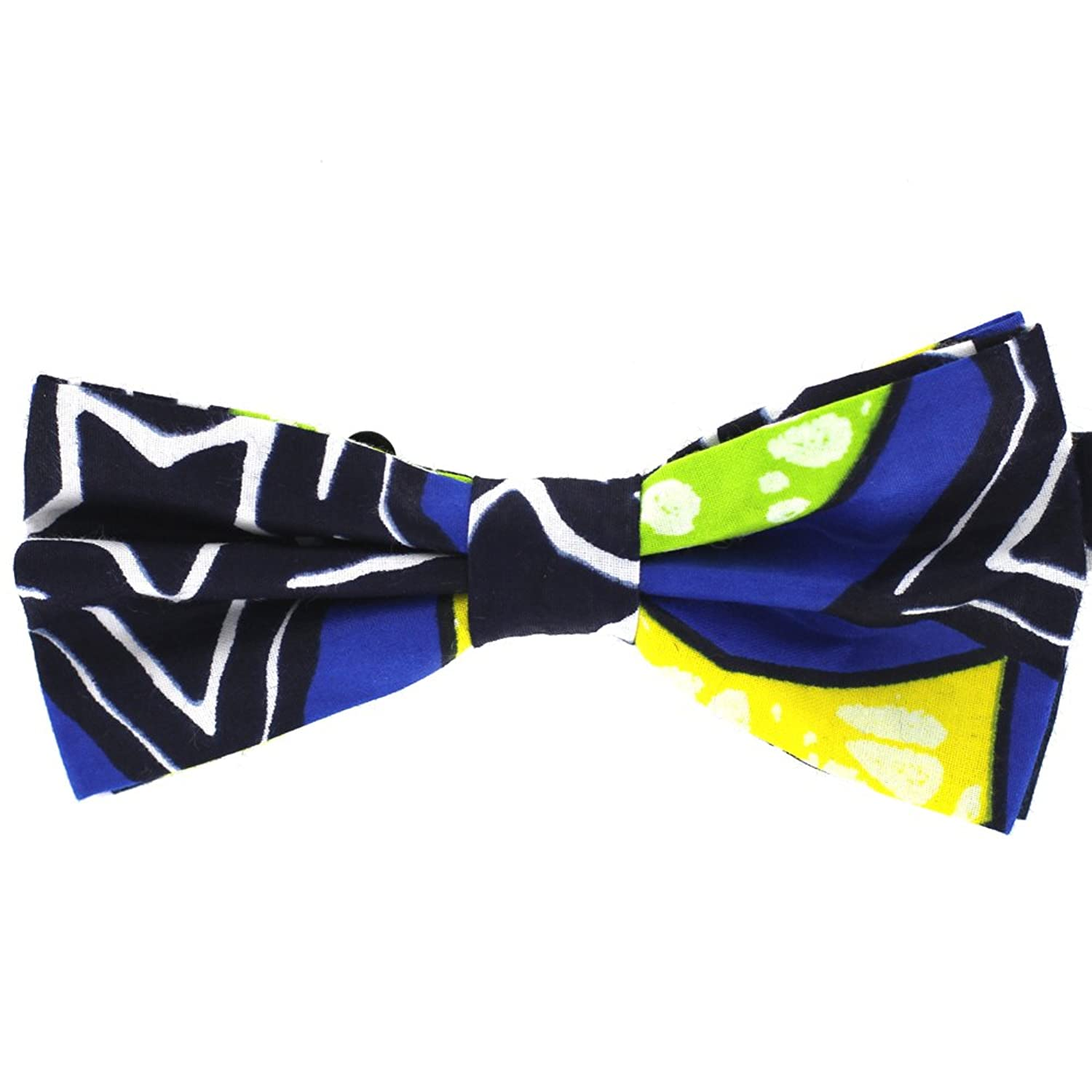 new Genuine African Wax Fabric Boy's Bow Tie by Tok Tok Designs® (BK365) free shipping