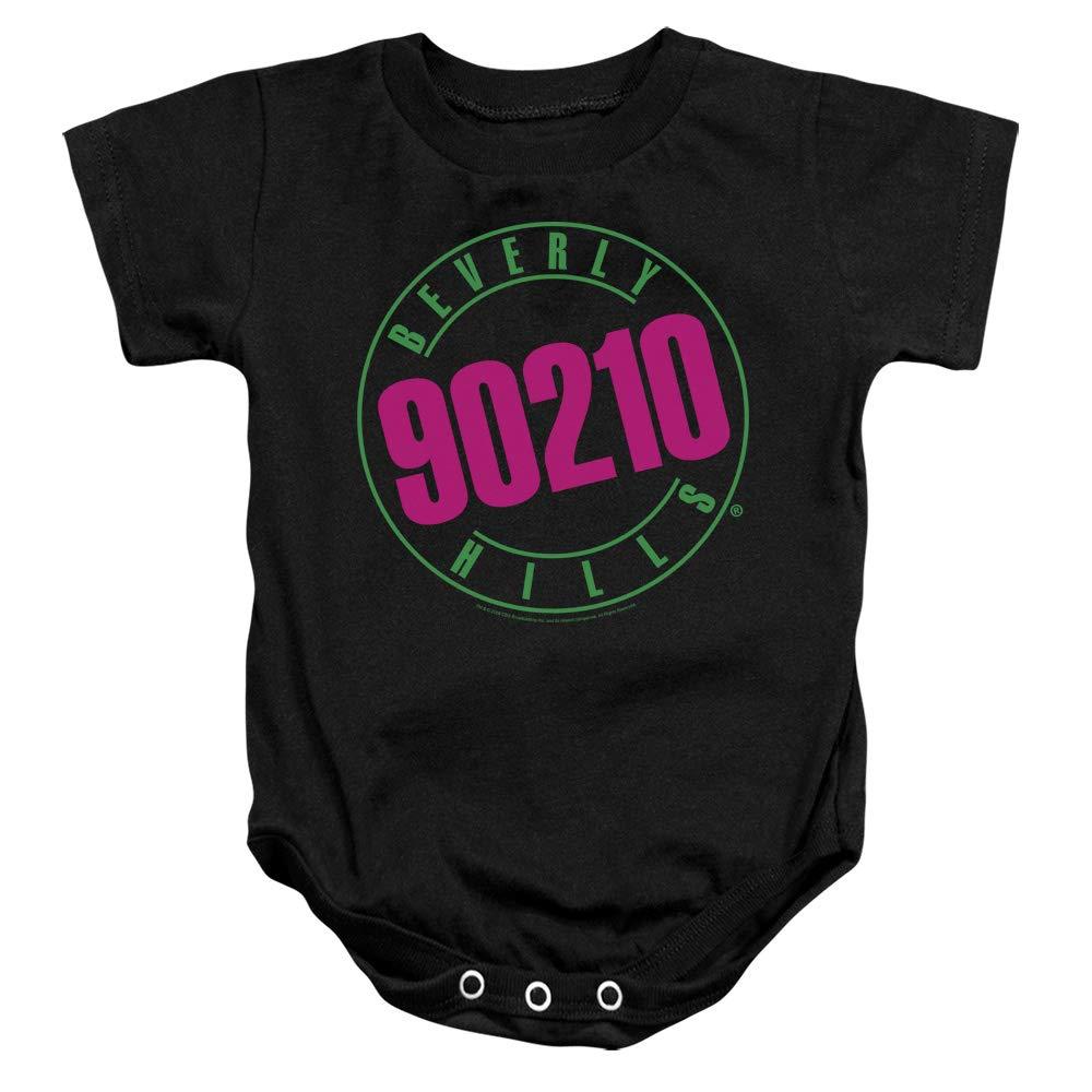 A/&E Designs Beverly Hills 90210 Infant Bodysuit Neon Logo Black Romper