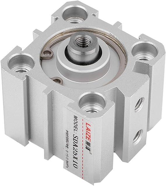 SDA25/ /10/cilindro pneumatico 25/mm foro 10/mm tempi alluminio a doppio effetto ictus avvitato stelo pistone