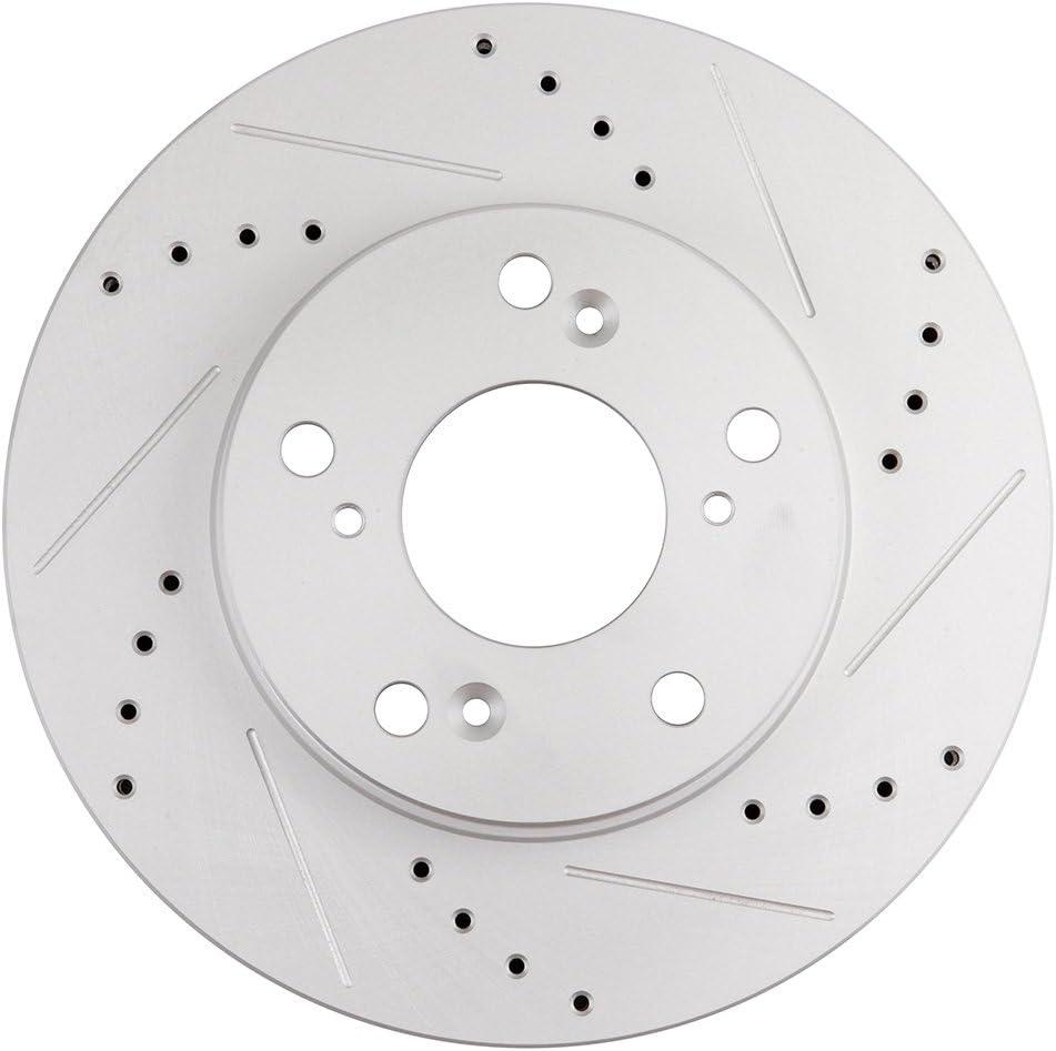Front Disc Brake Rotors /& Ceramic Pads for 2013 2014 2015-2017 Honda Civic EX