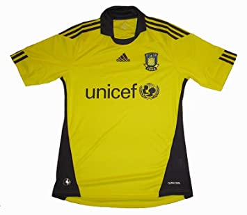 Adidas - Camiseta para Hombre del Equipo de fútbol Brondby IF (1ª equipación) Yellow