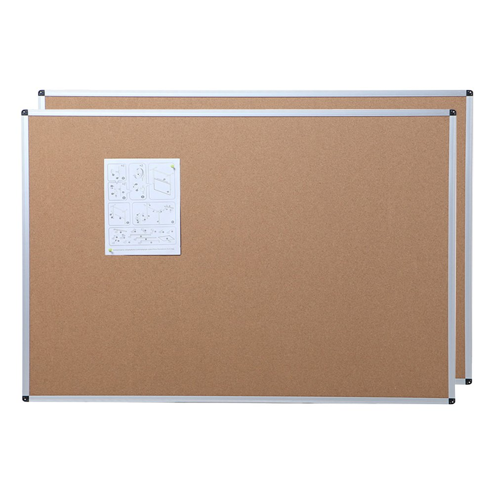 VIZ-PRO Cork Notice Board, 36 X 24 Inches, 2 Pack, Silver Aluminium Frame Zhengzhou AUCS Co. Ltd.