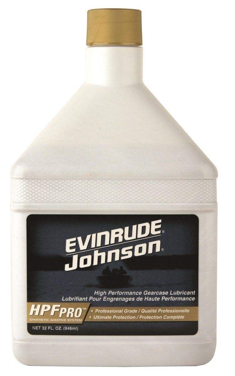 OMC Johnson Evinrude E-Tec HPF Pro Gearcase Lube 32oz. for Outboards & Sterndrives OEM by HPF Hangover Prevention Formula