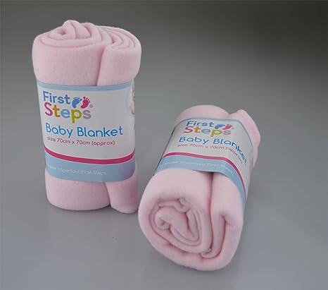 Punto de cruz para niños Tamaño de los peldaños Lote de 2 con forro polar de mantas de bebé ...
