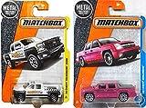 super 50 silverado - Chevy Matchbox heavy duty pick up trucks '02 Chevy Avalanche PINK #24 & '14 Chevy Silverado 1500 #59 PROTECTIVE CASES