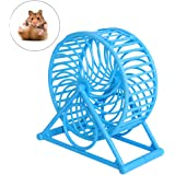 UEETEK Hamster Silent Exercise Wheel Plastic Jogging Running Toy Small Animal Cage for Rat Mice(blue)