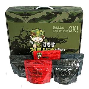 [Kim Byeong Jang]Korea Military Food Camping Rice Meal C Ration military foods MRE 10Pcs Set Combat Emergency Rations Outdoor