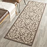 """Safavieh Courtyard Collection CY3416-3409 Chocolate and Natural Indoor/ Outdoor Runner, 2 feet 3 inches by 6 feet 7 inches (2'3"""" x 6'7"""")"""