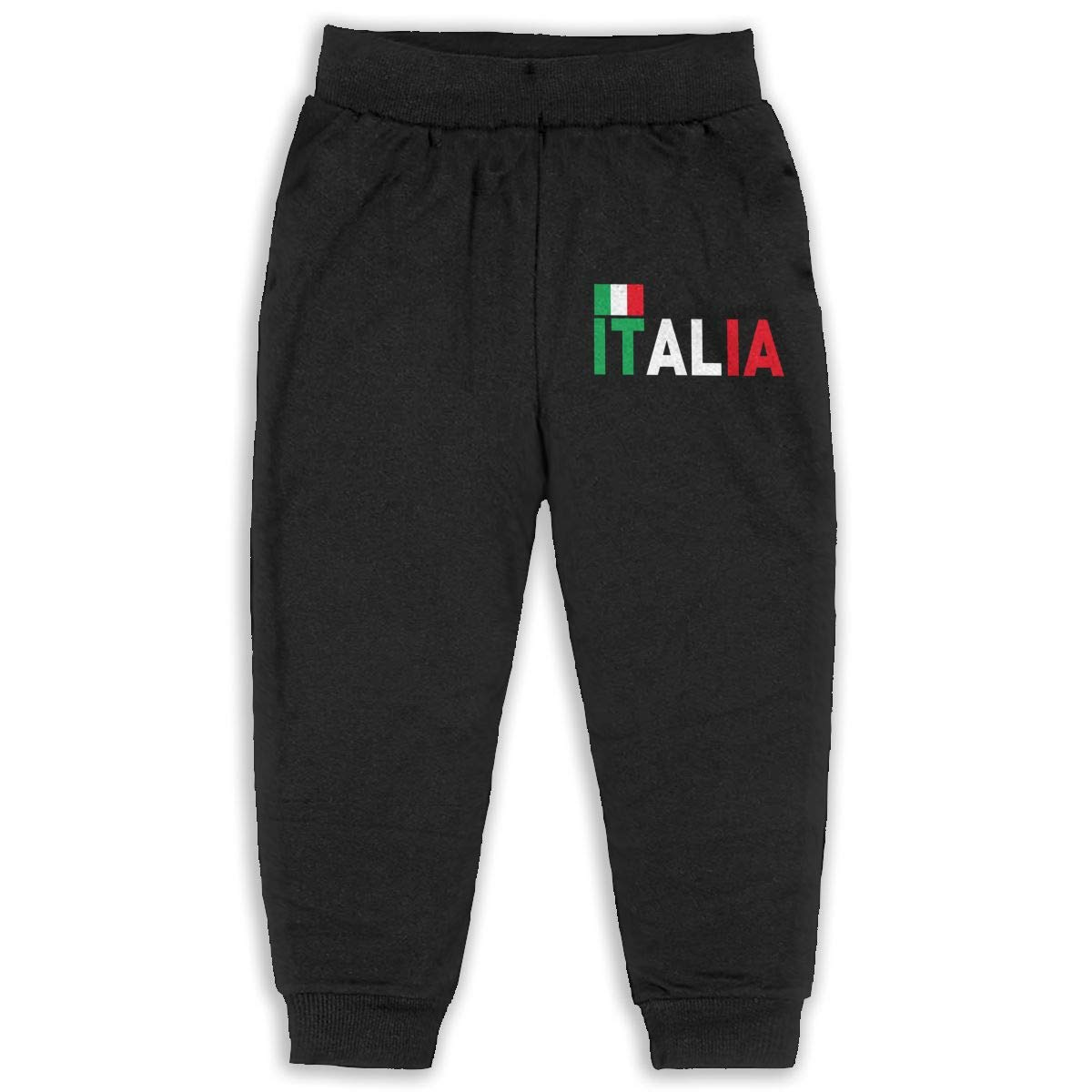 6T EASON-G Kids Joggers Italian Flag Fashion Sweatpants 2T