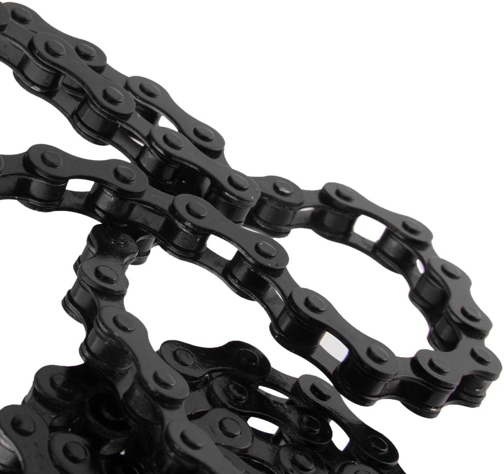 XL Negro Cadenas Cadena De Bicicleta De Pista BMX Artes Fijos De Una Sola Velocidad 1//2 \x 1//8 \