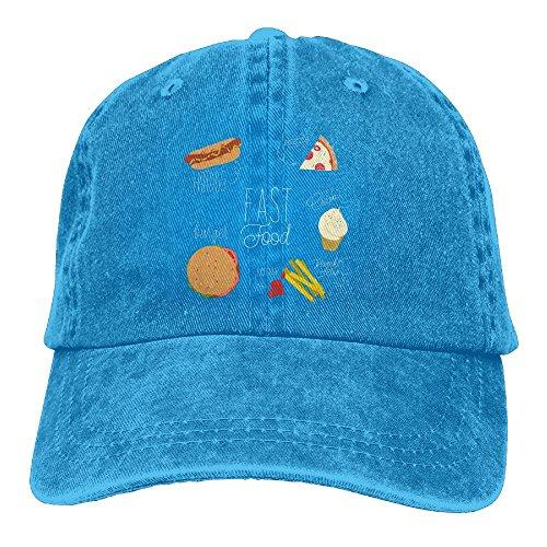 SYSOIO Fast Food - Hotdog Pizza Ice Cream Printed Baseball Caps Cowboy Hats Sun Hats