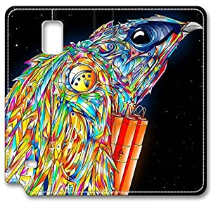 Abstract Artistic Psychedelic Leather Cover for Samsung Galaxy Note 4