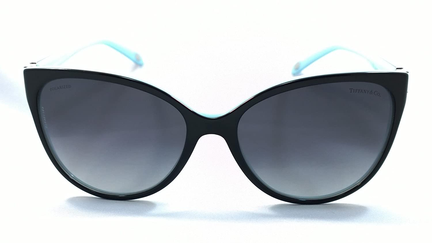 a1e383389641 Amazon.com  Tiffany   Co. Tf4089b 100% Authentic Limited Edition Women s  Polarized Sunglasses Black   Blue 8055 t3  Clothing