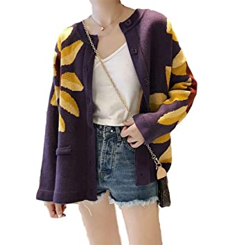 MoonShine Clothing Oversized Sunflower Knitted Cardigan ...