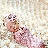 Yarra Modes Newborn Baby Photography Photo Props 3D Rose Flower Backdrop Beanbag Blanket Rug (Beige)
