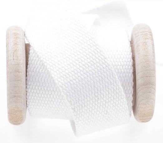 Cinta Correa algodón al metro – blanco, algodón, blanco, 30 mm ...