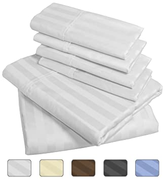 american pillowcase luxury queen size bed striped sheet set 100 egyptian cotton - 100 Egyptian Cotton Sheets