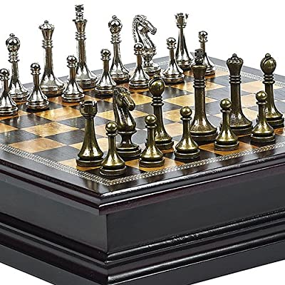 Tudor City Metal Chessmen with Storage. King: 2 1/2""