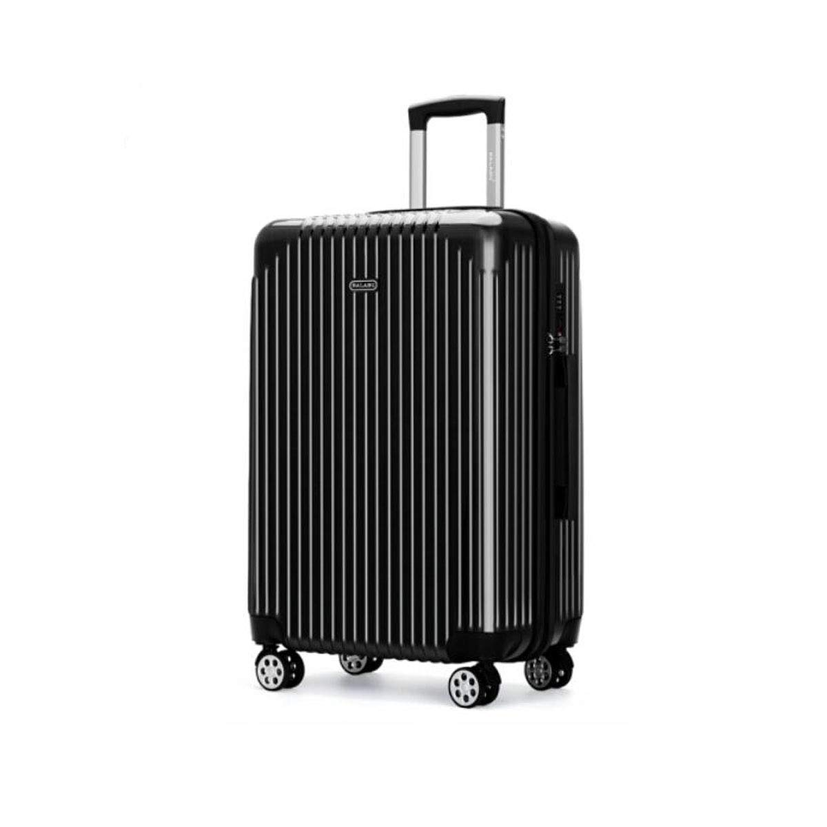 cm Color : White, Size : 182527 inch Size Aishanghuayi Suitcase for Large Capacity Business Portable Hard Shell Rotating Suitcase Black 37 22 57
