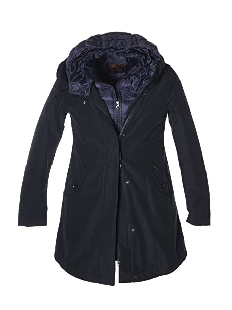 Wwcps2497cn03dkn Woolrich Amazon Blu Cotone Donna Cappotto it HqExzqg1w
