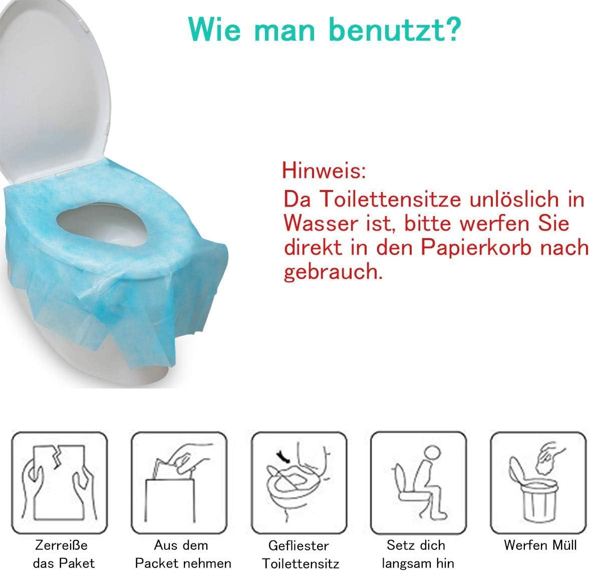LAOYE 30 pcs Housses de Si/ège de Toilettes Jetables Protecteur de Toilette Couvre Toilette Couverture pour Toilettes Publiques pour Enfants