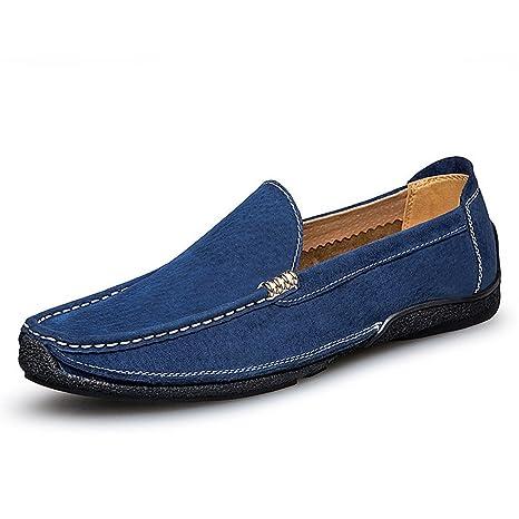 Zapatos Shufang, 2018 para Hombre, con flotadores de Piel, para conducción, para