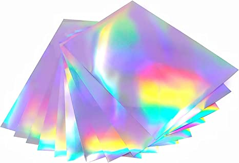 Amazon.com : Printable Holographic Sticker Paper for Your Inkjet Printer 8.5 x 11 Inches Dries Quickly Waterproof Sticker Paper Rainbow Vinyl Sticker Paper 20 pcs : Office Products