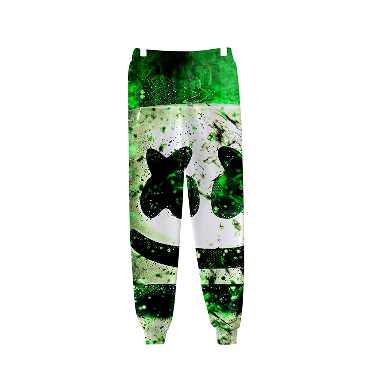 f003cae3e80e11 Amazon.com: INTERESTPRINT Cool Marshmello Face 3D Joggers Pants Trousers  Sport Track Sweatpants Baggy for Men/Women: Clothing