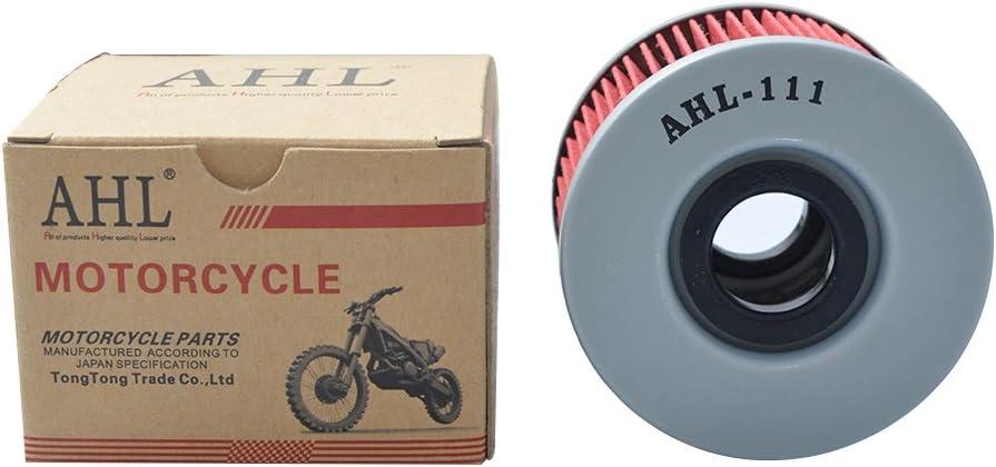 AHL Motocicleta Filtro de Aceite Oil Filter para Honda TRX680FGA Rincon GPSCAPE 680 2006-2010