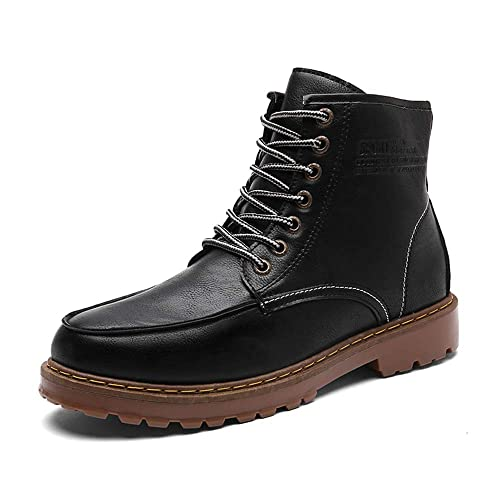 3b5848cdbad Jtomoo Men's Leather Work Boots Moc Toe Classic Waterproof Comfortable  Industrial Construction Boots