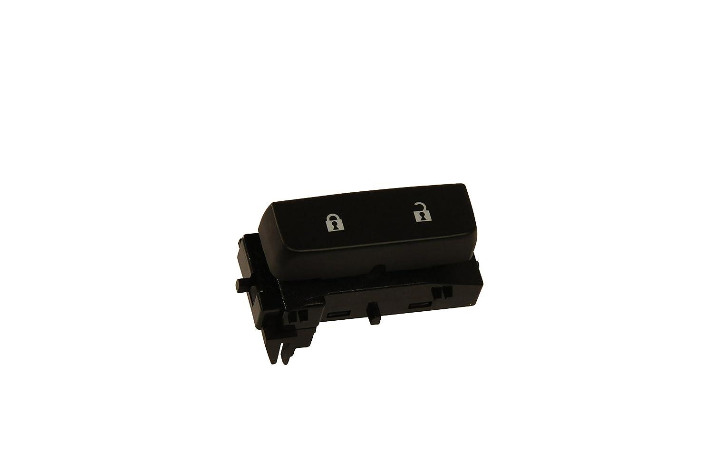 ACDelco 15804094 Black Single Door Lock Switch with Blue Backlighting (GM Original Equipment)