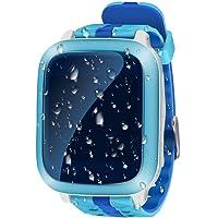 Smart Watch GPS Tracker Niños Impermeable 1.44inch localizador GPS tracking de tiempo real Niños geo-recinto SIM Calls SOS reloj teléfono niño antipérdida GPS pulsera Girls Boys Finder para iOS Andriod DS18