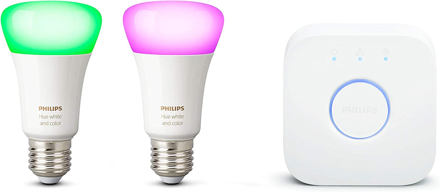 Philips Hue Kit de démarrage 2 Ampoules LED connectées White & Color...