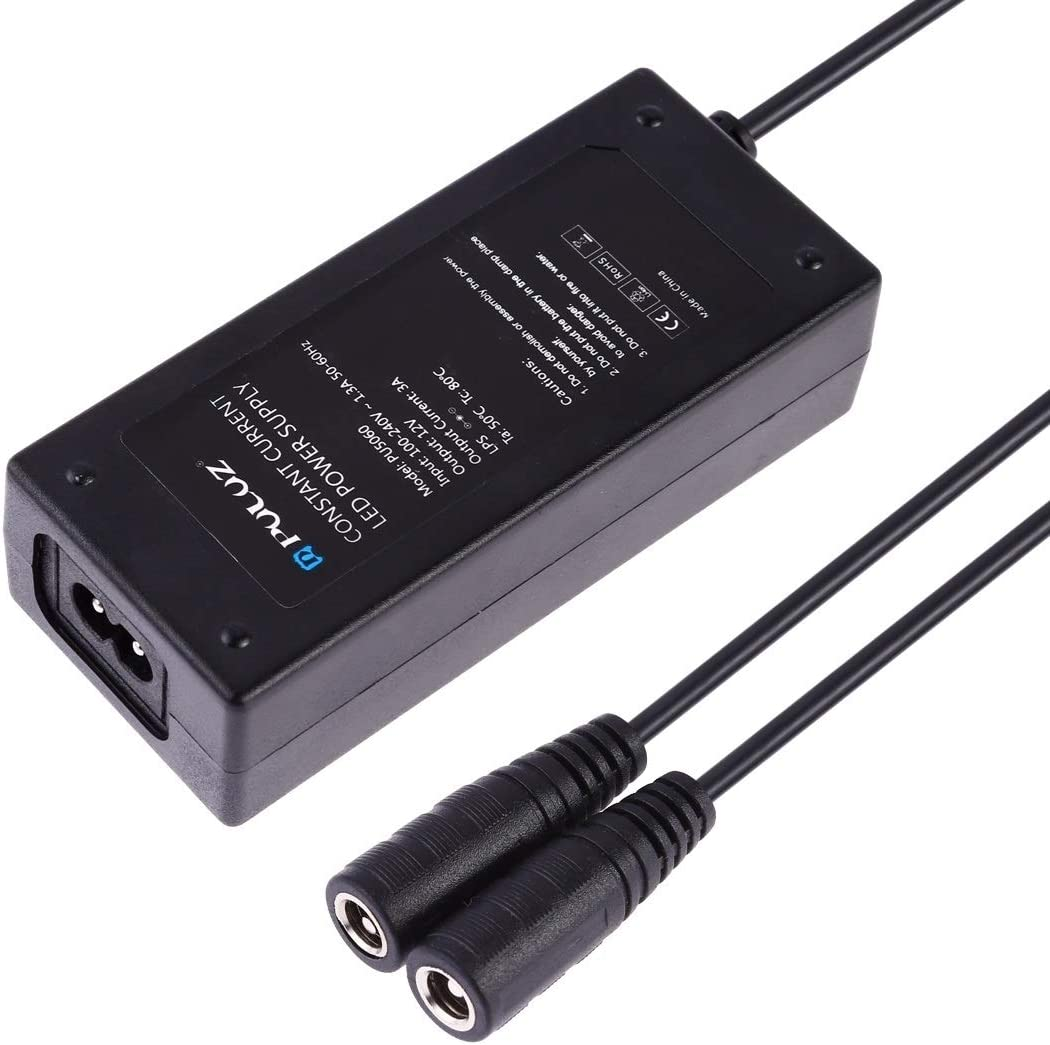 Color : AU Plug Constant Current LED Power Supply Power Adapter for 60cm Studio Tent AC 100-240V to DC 12V 3A Durable