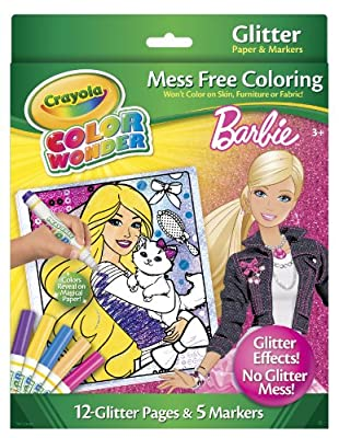 Crayola Color Wonder Barbie Glitter Paper and Markers from Crayola