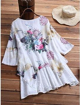 DAIDAILYQ Camiseta Algodón Casual Tallas Grandes Vestido para Damas Vestido Casual De Lino Vestido: Amazon.es: Deportes y aire libre