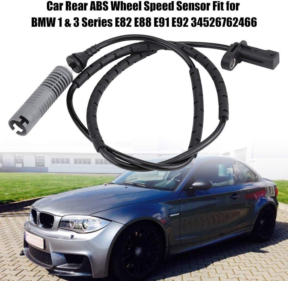 Terisass 34526762466 Rear ABS Wheel Speed Sensor 6762466 0986594514 for 1 Series E81 E82 E87 E88 3 Series E90 E91 E92 E93 2004-2014 All Engines 2004-2014